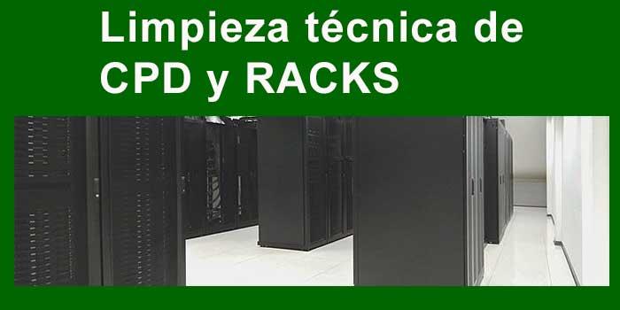 limpieza técnica de CPD y racks